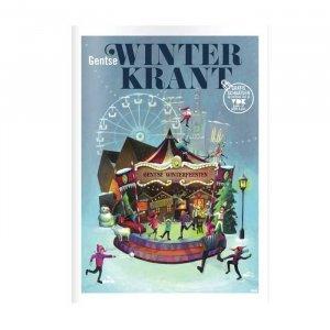 Geschilderde Illustratie voor de Gentse Winterkrant door Annelies Fraeyman