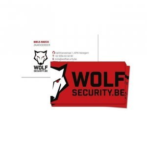 Wolf Security - logo en grafisch ontwerp illustra'lies