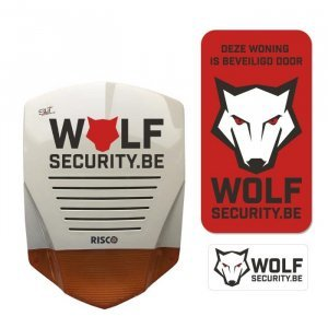Wolf Security - logo ontwerp illustra'lies