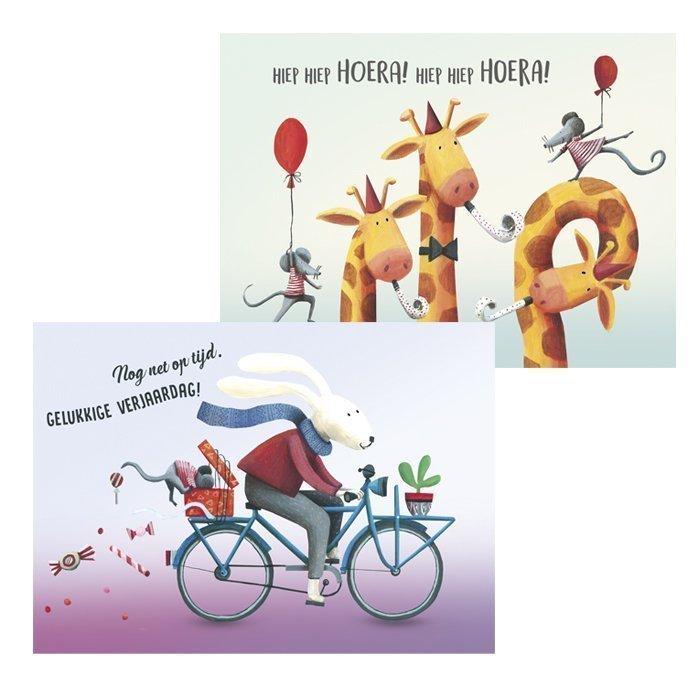 wenskaarten happy friends - illustra'lies