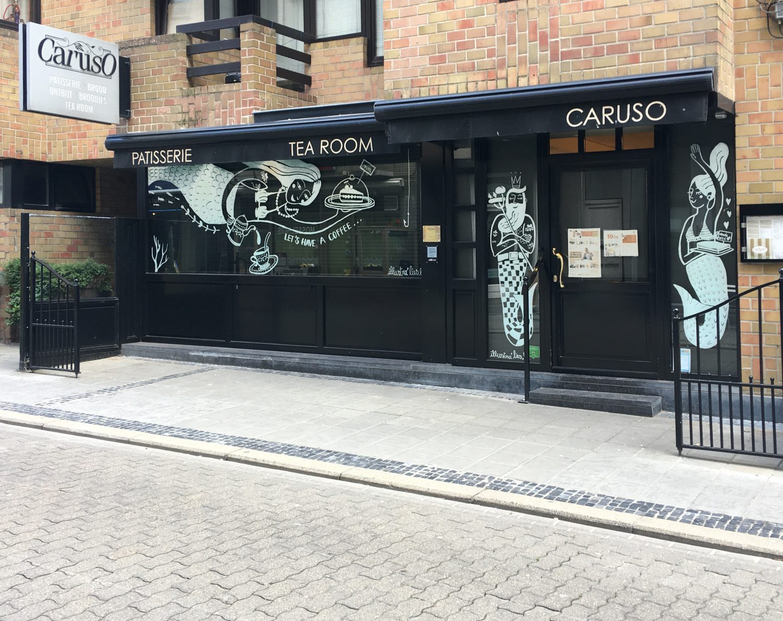 raamtekening Caruso Oostende - illustra'lies