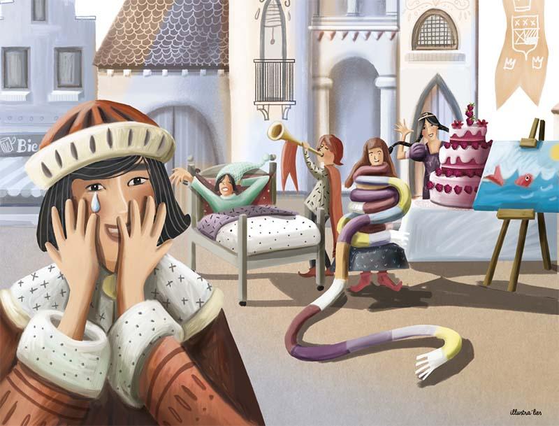 illustratie op maat kamishibai Gruuthusemuseum Brugge - illustra'lies