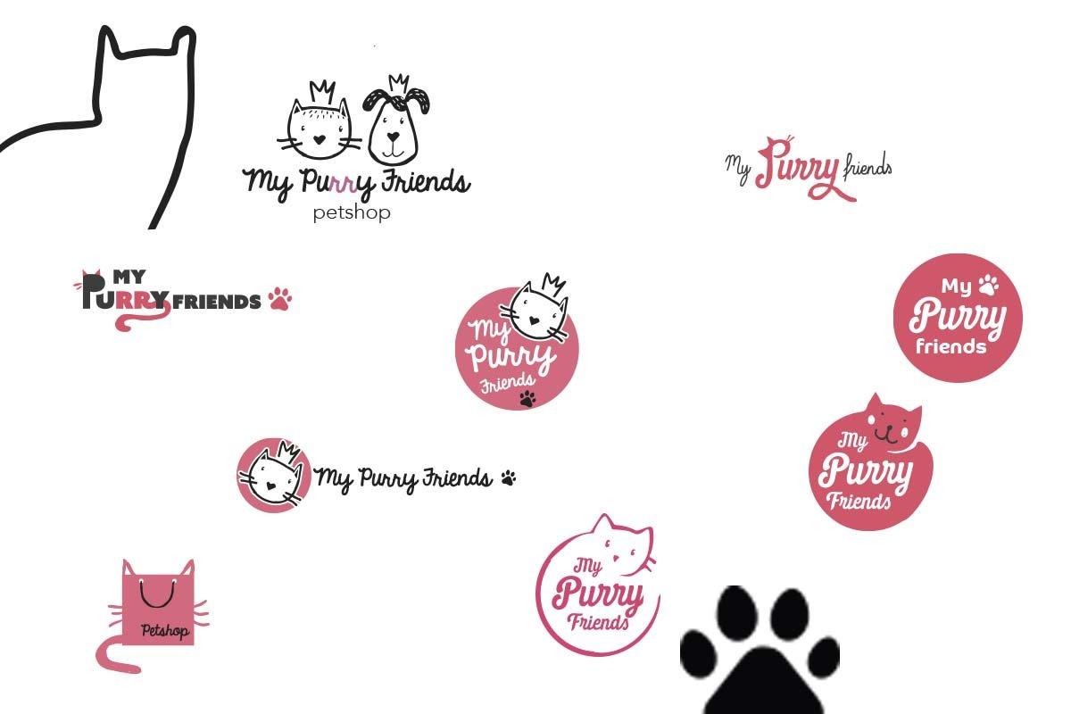My Purry friends - logo ontwerp illustra'lies