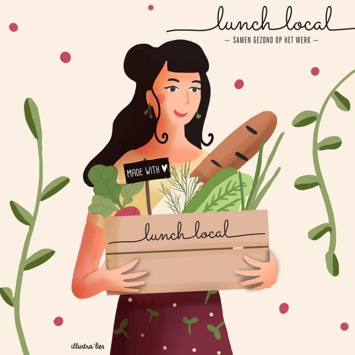 portret illustratie lunch local - illustra'lies