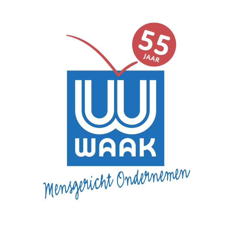 feestlogo Waak viert feest - illustra'lies