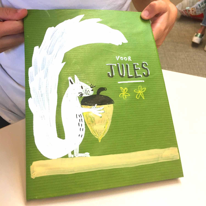 bibliotheek kuurne - kaftpapier pimpen - ezelsoor - illustra'lies
