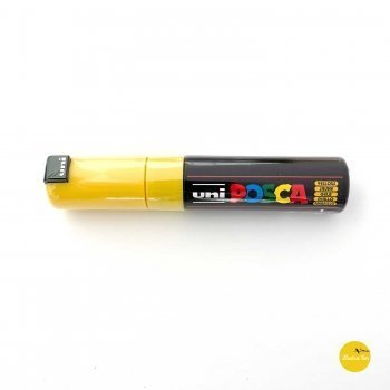 afbeelding Uni Posca stift geel