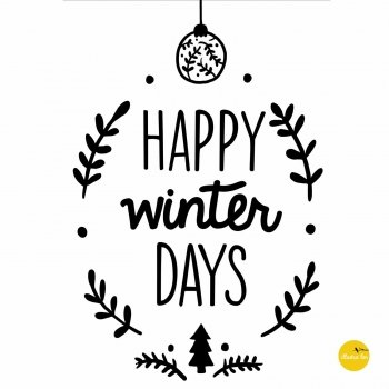 afbeelding illustratie raamtekensjabloon happy winter days - illustra'lies