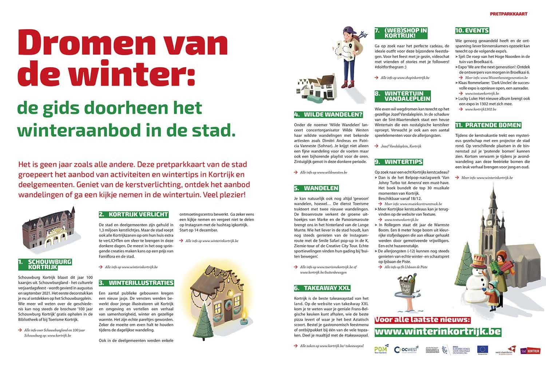 Winter in Kortrijk illustraties uit pretparkkaart Kortrijk - illustra'lies