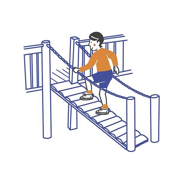 illustratie voor opleidingsgids Uitdagend speelplezier - illustra'lies