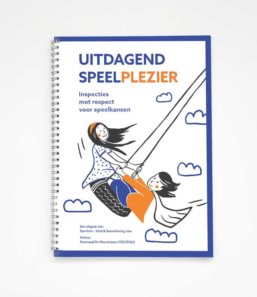 illustratie en layout cover opleidingsgids Uitdagend speelplezier - illustra'lies