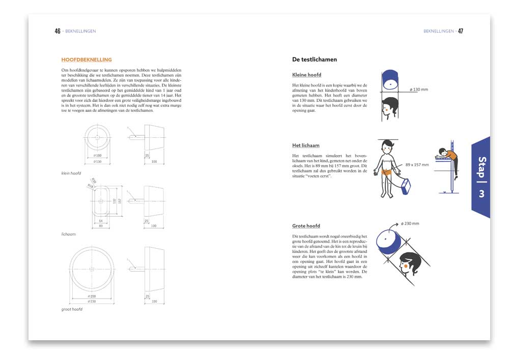 binnenpagina opleidingsgids Uitdagend speelplezier - layout en illustraties illustra'lies
