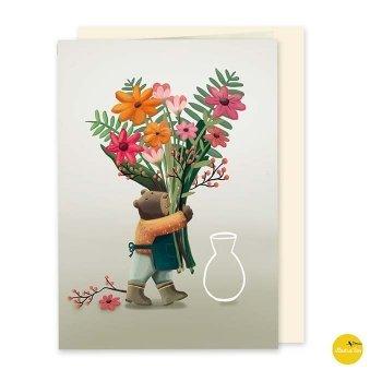 wenskaart bloemen illustralies