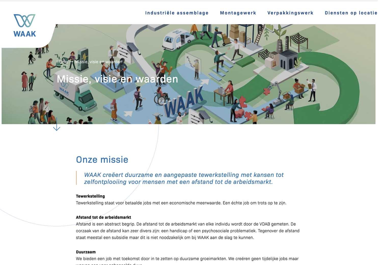 illustatie voor visie van Waak in Kuurne door illustra'lies