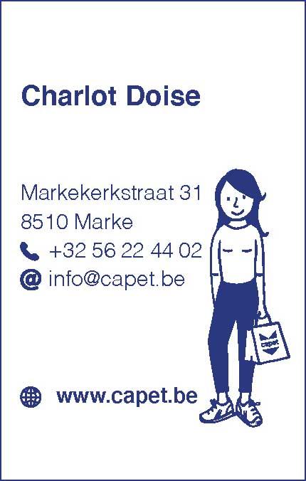 CAPET visitekaart Charlot lingerie capet