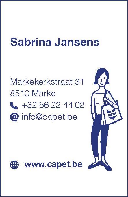 CAPET visitekaart sabrina jansens lingerie capet