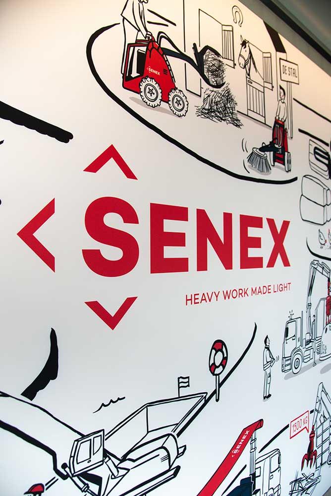 Senex Zwevegem wand illustratie 2